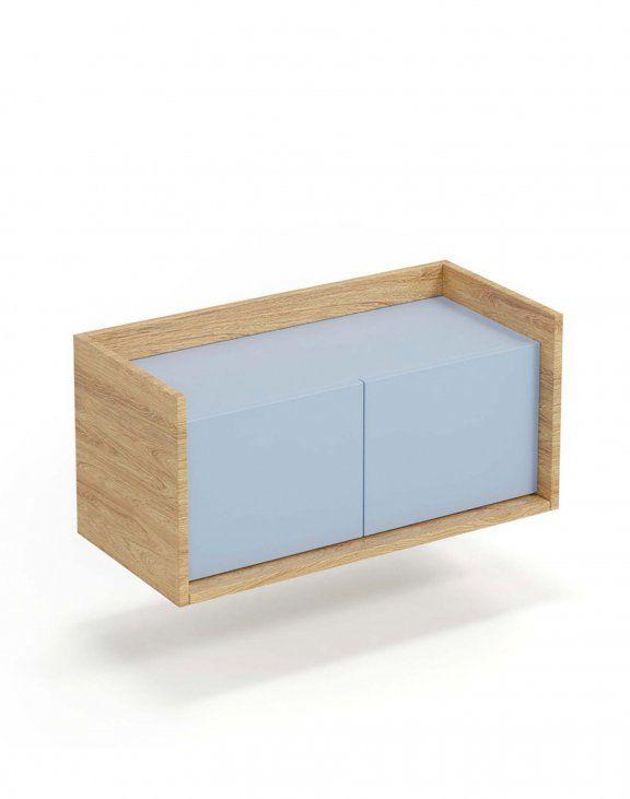 Mobius szafka niska 2D (78x41x36 cm), błękitny, meble modułowe