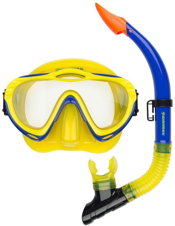 Maska z fajką do nurkowania dla dzieci Waimea
