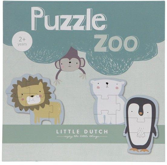 Little Dutch - Puzzle zoo - 6 Elementów