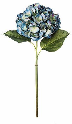 EUROCINSA Ref.62010C34 hortensja niebieska z zielonym, pudełko z 6 sztukami, 69 cm