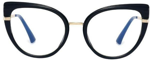 Okulary kocie do komputera damskie z filtrem BLUE Light zerówki 2582