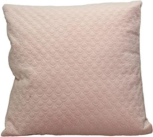 Ozdobna poduszka z wypełnieniem - aksamit - różowa - 45 x 45 cm
