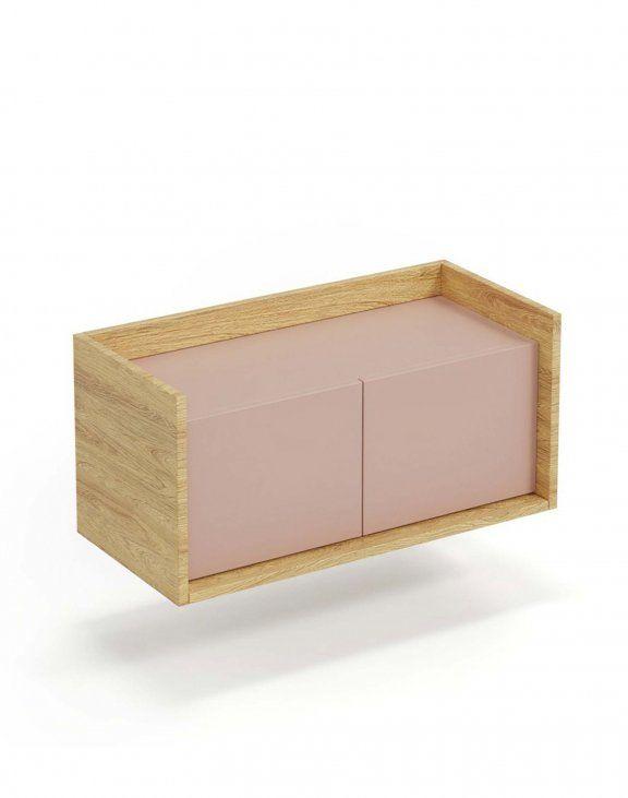 Mobius szafka niska 1D (50x41x36 cm), róż, meble modułowe