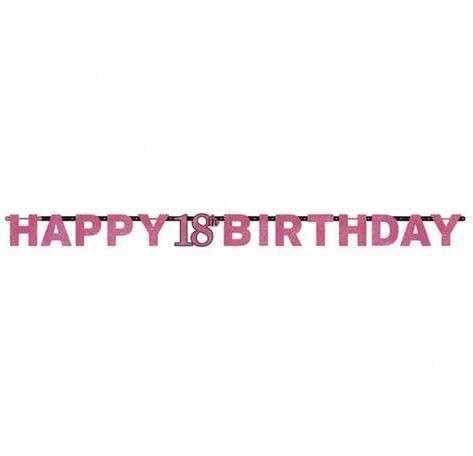 Baner na 18 urodziny różowy Sparkling Celebration
