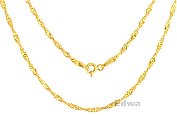Łańcuszek złoty pr. 0.585 Singapur 40 cm