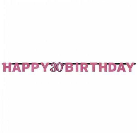 Baner na 30 urodziny różowy Sparkling Celebration