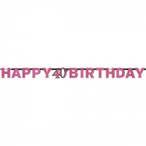 Baner na 40 urodziny różowy Sparkling Celebration