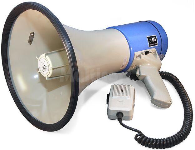 Megafon 25W z mikrofonem na elastycznym przewodzie