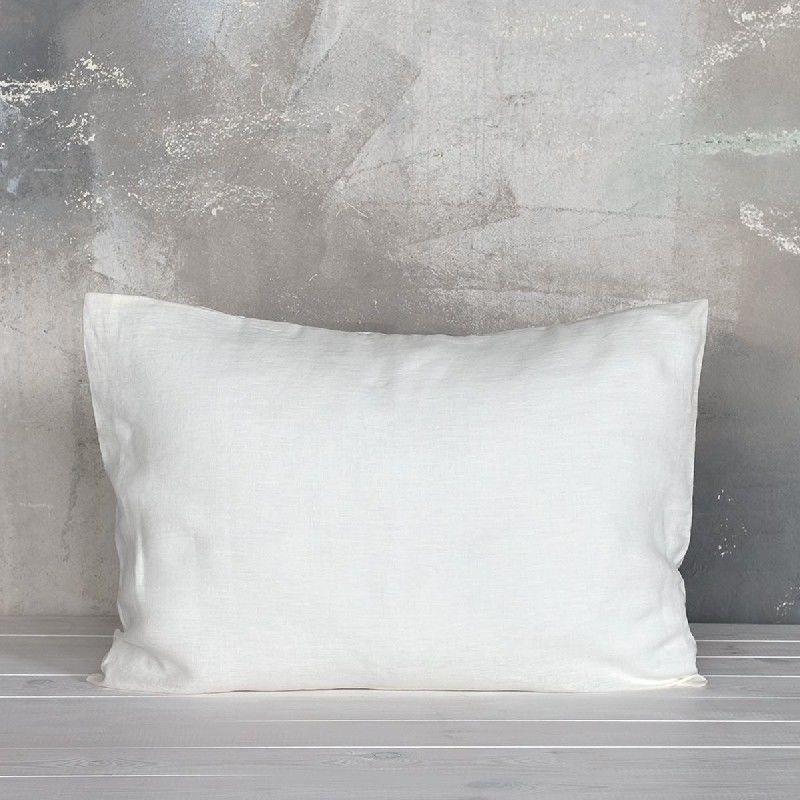 Poszewka na poduszkę lniana MOANA Pure, Rozmiar - 50x70, Kolor - white cream WYPRZEDAŻ, WYSYŁKA GRATIS, 603-671-572