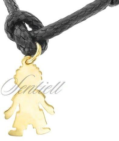 Srebrna zawieszka do bransoletki pr.925 złocony chłopiec do grawerowania