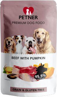 PETNER Bezzbożowa Karma dla Dorosłych Psów z Wołowiną i Dynią 500 G