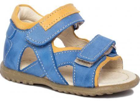 EMEL E2086-18 ROCZKI sandałki profilaktyczne chłopięce niebieskie