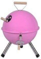 Grill ogrodowy węglowy okrągły, mini grill bbq kolor różowy (HUR-YG00263_P)