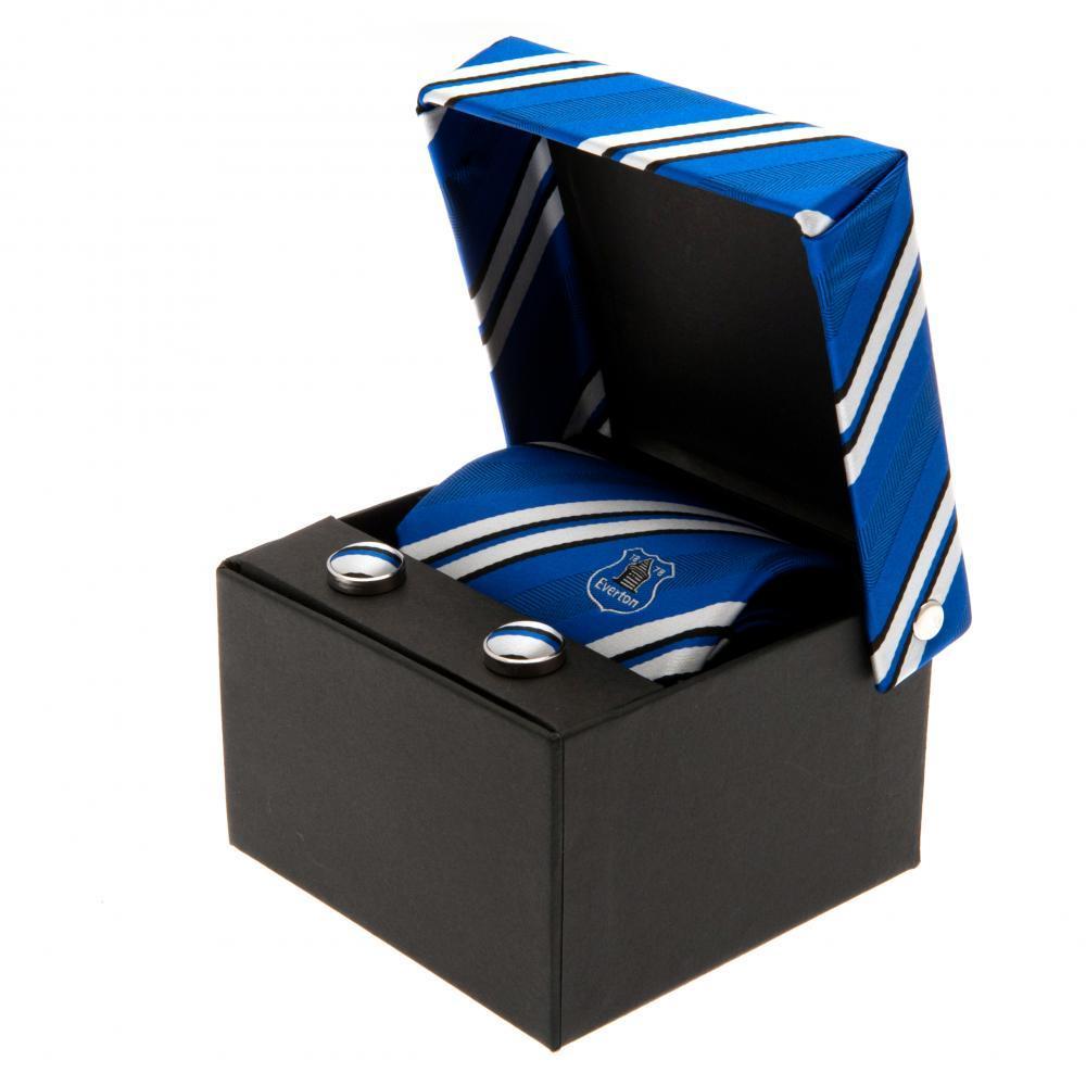 Everton FC - krawat + spinki