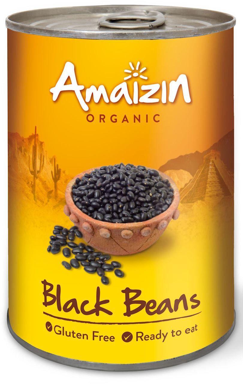 Fasola czarna w zalewie puszka bio 400 g 240 g - amaizin