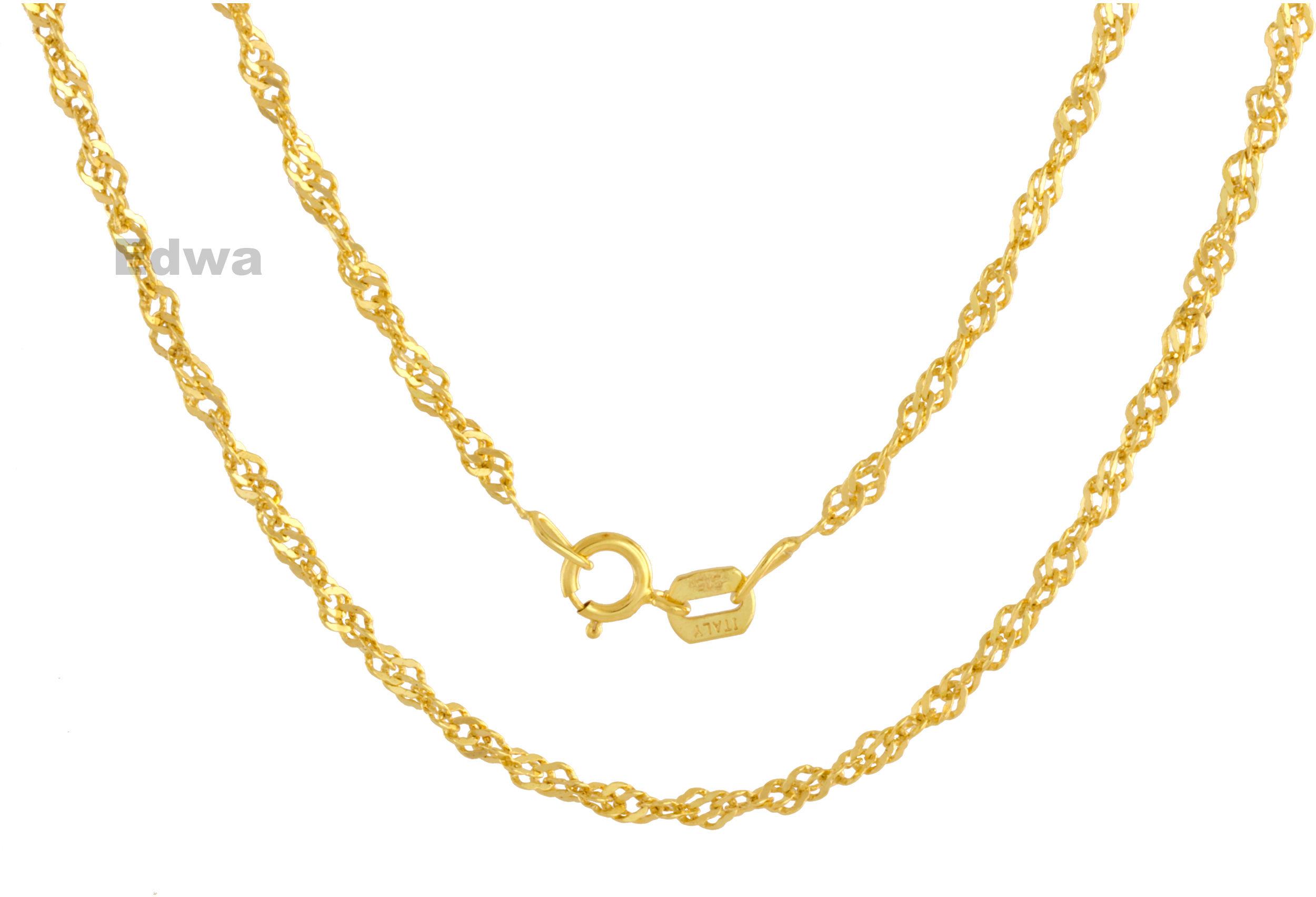 Łańcuszek złoty Singapur pr.585. 50 cm