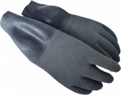 Suche szare rękawice SANTI z manszetami