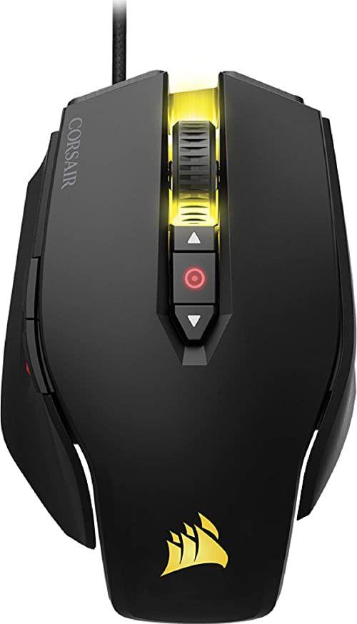 Corsair M65 PRO RGB optyczna mysz gamingowa (RGB, podświetlenie LED, 12000 DPI), czarna