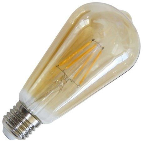 Żarówka FILAMENT LED E27 6W ciepła 2700k ST64 łezka GOLD