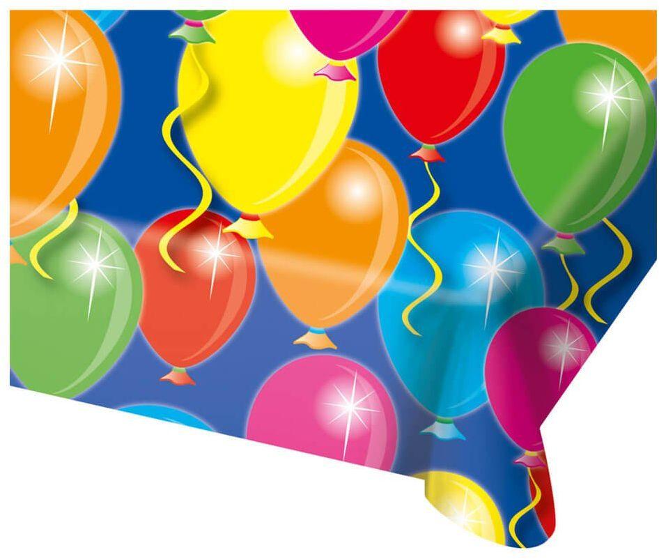 Obrus urodzinowy Baloniki - 180 x 130 cm - 1 szt.