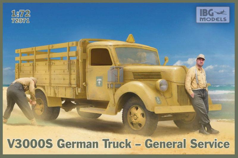 Model plastikowy Niemiecka ciężarówka General service V3000 S
