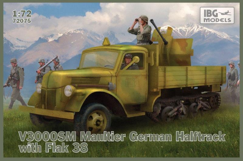 Model plastikowy Ciężarówka niemiecka półgąsienicowa Maultier V3000 SM