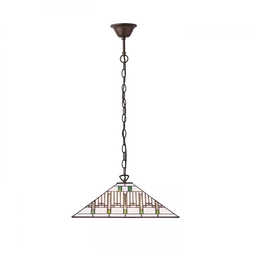 Lampa wisząca TIFFANY MISSION - 70933 - INTERIORS 1900  Skorzystaj z kuponu -10% -KOD: OKAZJA