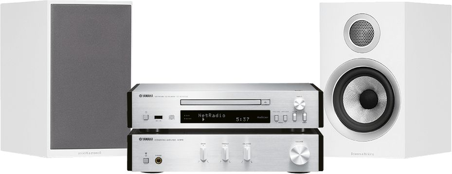 MusicCast PianoCraft MCR-N670D (srebrny) + B&W 707 S2 (biały)  SALONY FIRMOWE W 13 MIASTACH  25 LAT NA RYNKU  DOSTAWA 0 zł  ODBIÓR OSOBISTY