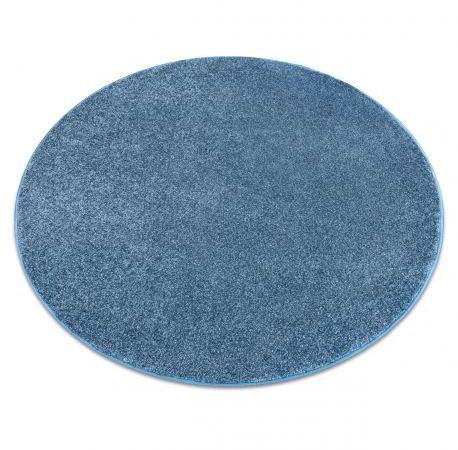DYWAN koło SANTA FE niebieski 74 gładki, jednolity, jednokolorowy koło 100 cm