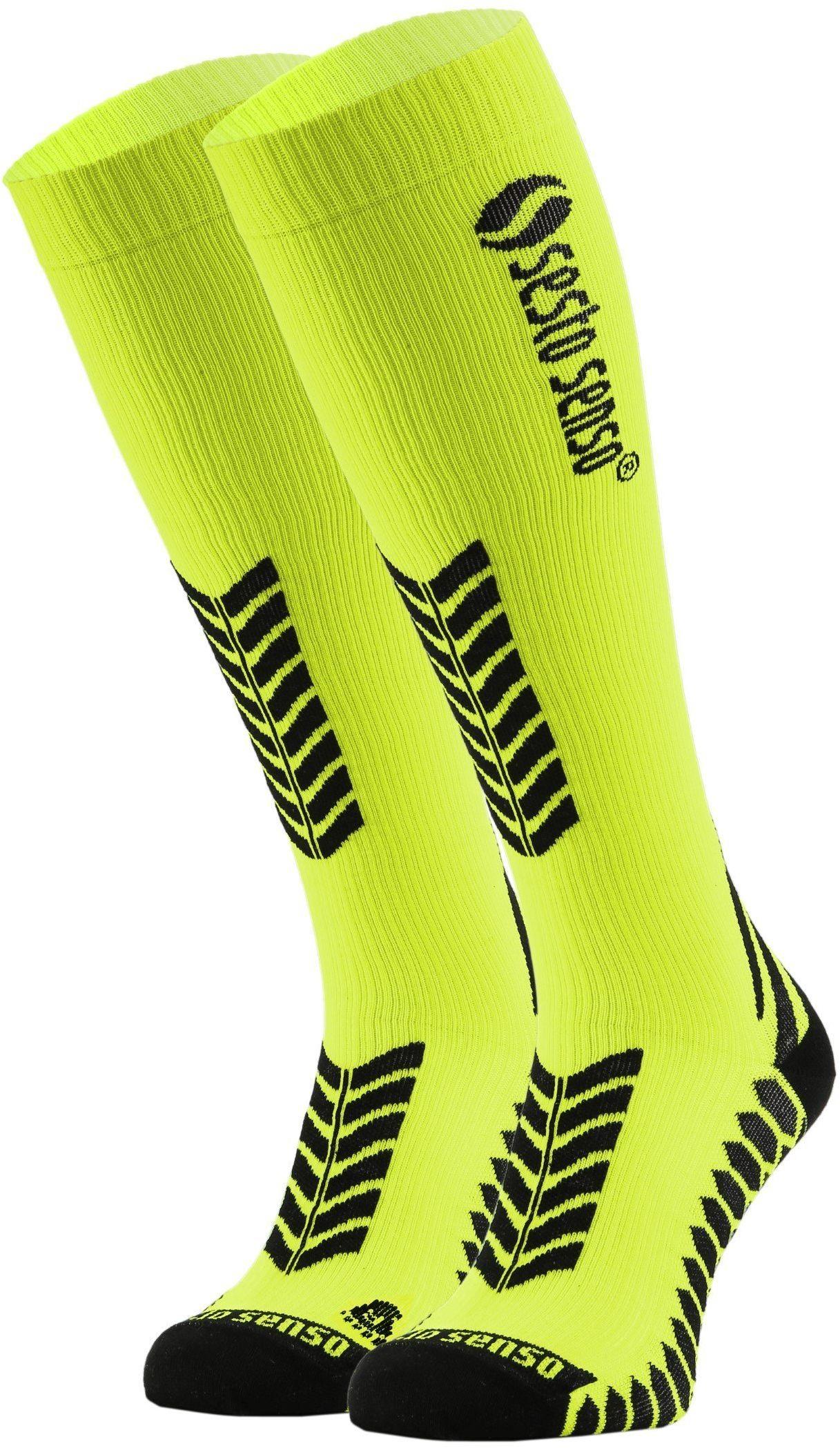 Sportowe KOMPRESYJNE długie skarpety dla biegaczy Sesto Senso