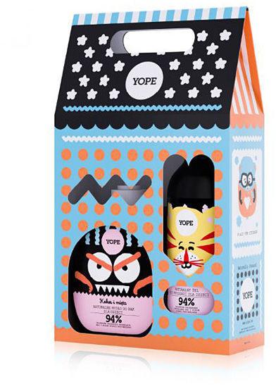 YOPE Zestaw, mydło i żel pod prysznic dla dzieci Kokos i żurawina 800 ml (400 ml + 400 ml)