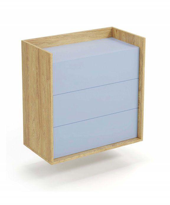 Mobius komoda 3S (78x48x83 cm), błękitny, meble modułowe