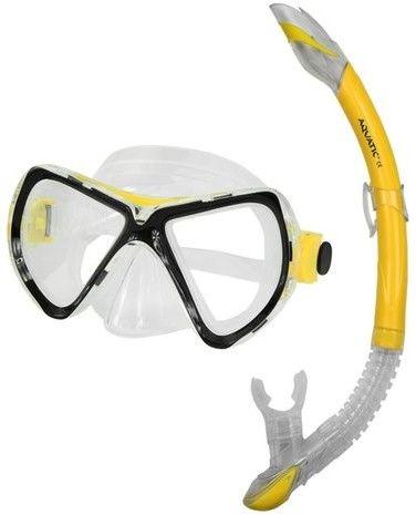 Zestaw do nurkowania Aquatic maska tuna+fajka ZEFIR Żółty