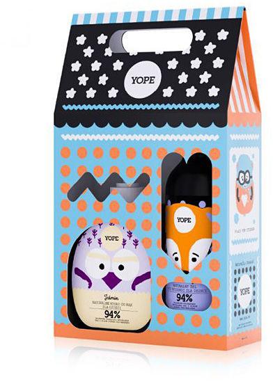 YOPE Zestaw, mydło i żel pod prysznic dla dzieci Jaśmin i pomarańcza 800 ml (400 ml + 400 ml)