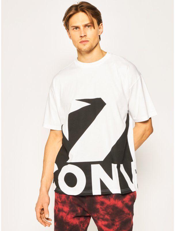 Converse T-Shirt Star Chevron Icon remix 10018381-A01 Biały Regular Fit