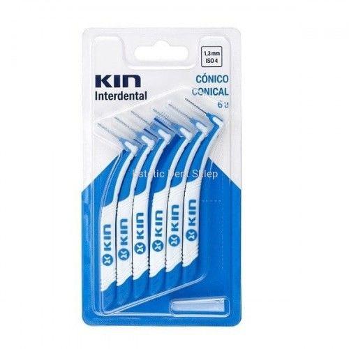 KIN Miniprox 1,3 mm szczoteczka do przestrzeni międzyzębowych stożkowa 5 szt