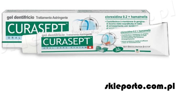 Curasept pasta do zębów 0.2 CHX 75 ml w żelu z oczarem wirginijskim