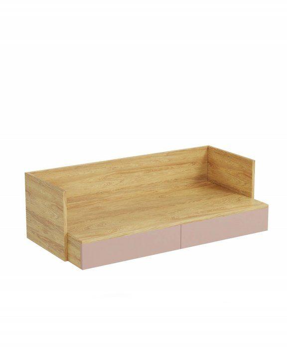 Mobius biurko S2 (55x110x38 cm), róż, meble modułowe