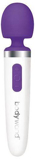 Podręczny masażer - Bodywand Aqua Mini Rechargeable Wand Massager Purple