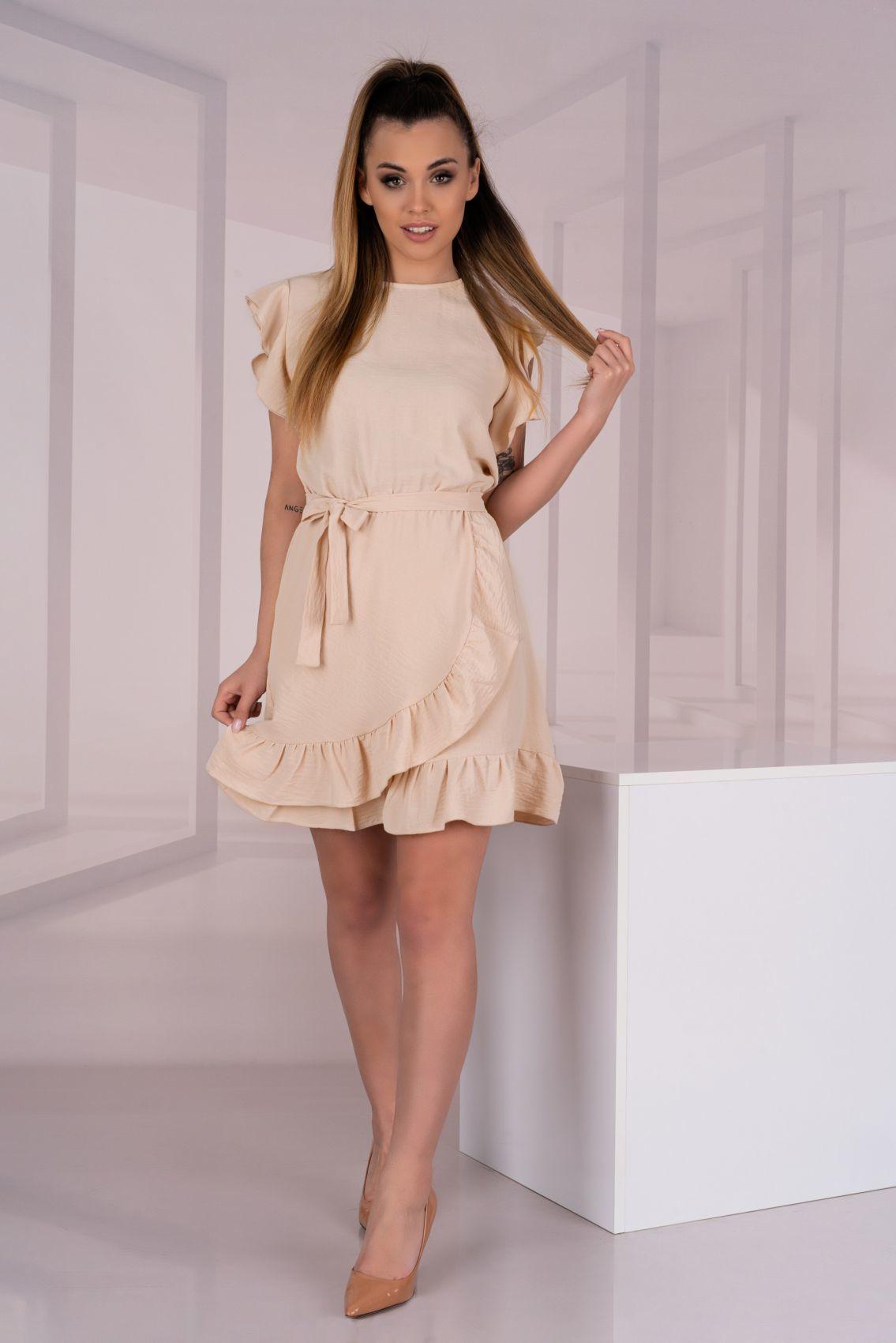 Keema Beige D06 sukienka