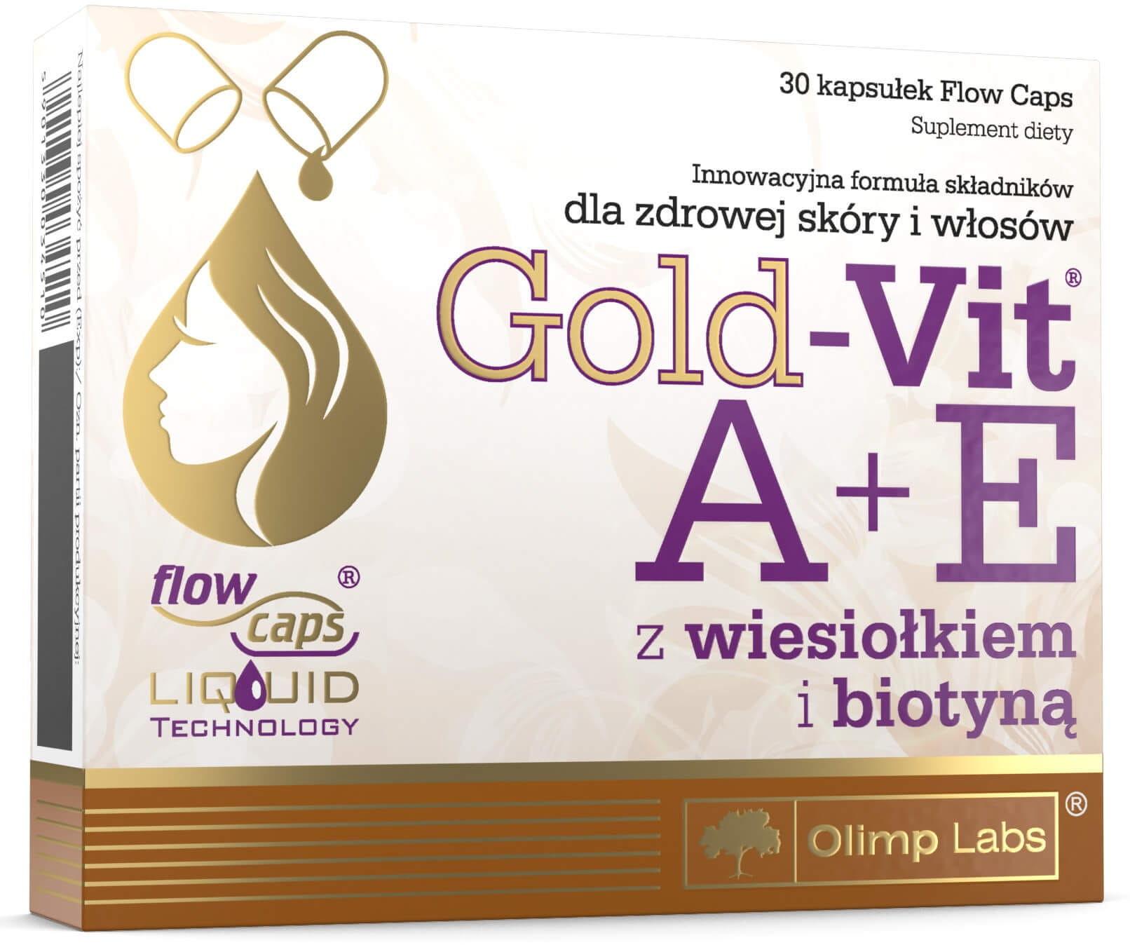 Gold-Vit C  A+E z Wiesiołkiem i Biotyną Suplement Diety 30 Kapsułek - Olimp Labs