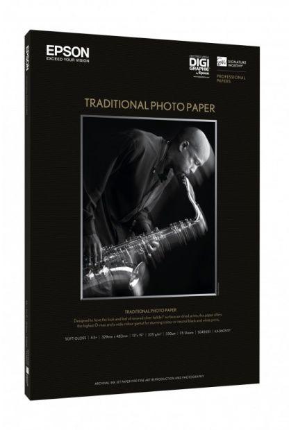 Papier EPSON SIGNATURE WORTHY Traditional Photo Paper A4 330gsm (25 arkuszy) (C13S045050)