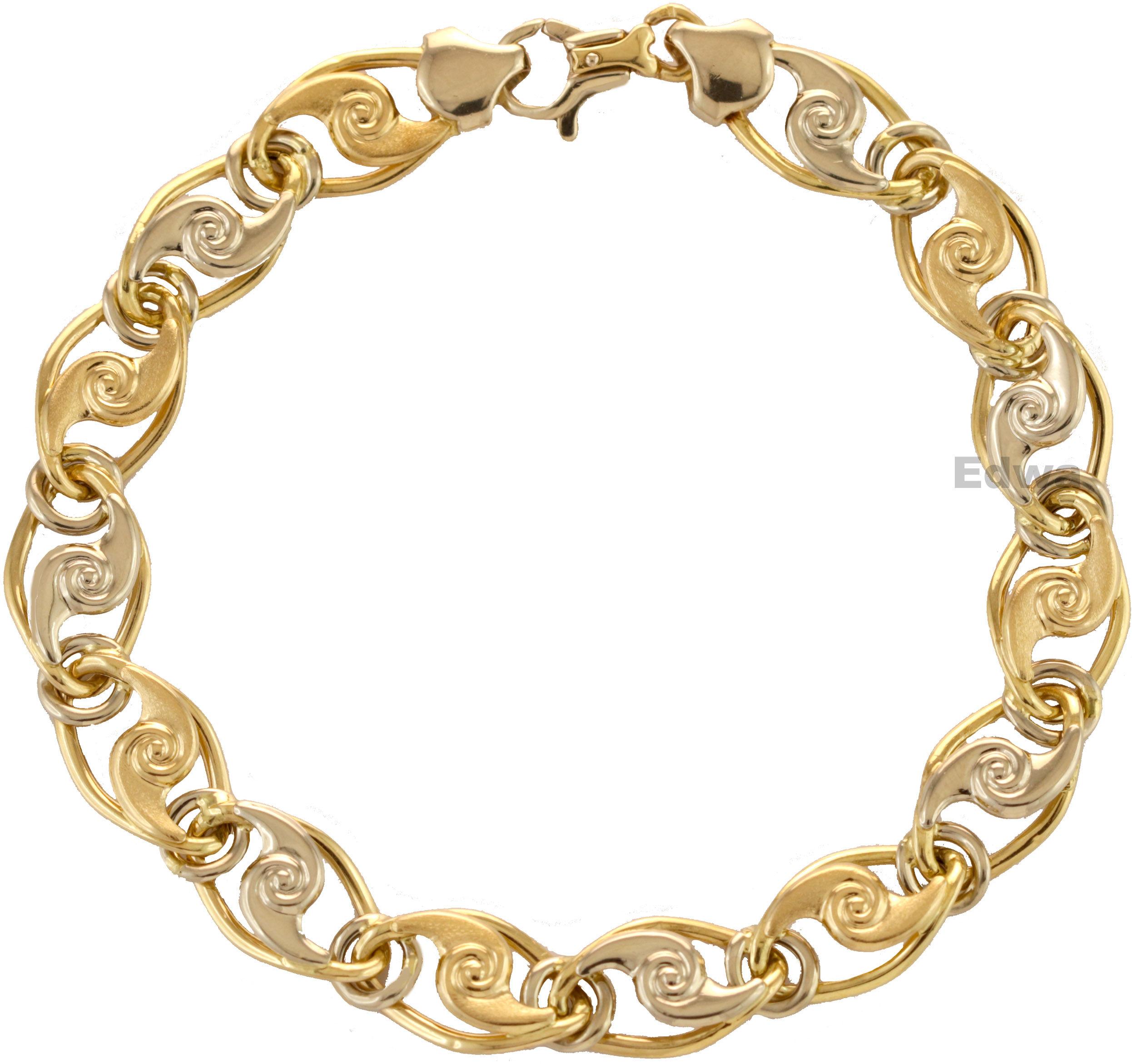 Bransoletka złota dwukolorowa wzór fantazyjny pr.585