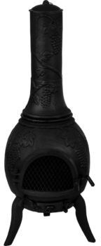 Piecyk ogrodowy 120 cm - żeliwny kominek (HUR-30050148)