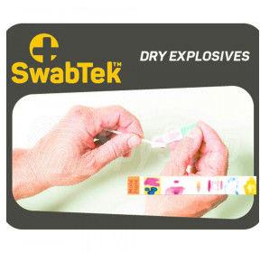 Bezpieczny test SwabTek wykrywający suche materiały wybuchowe