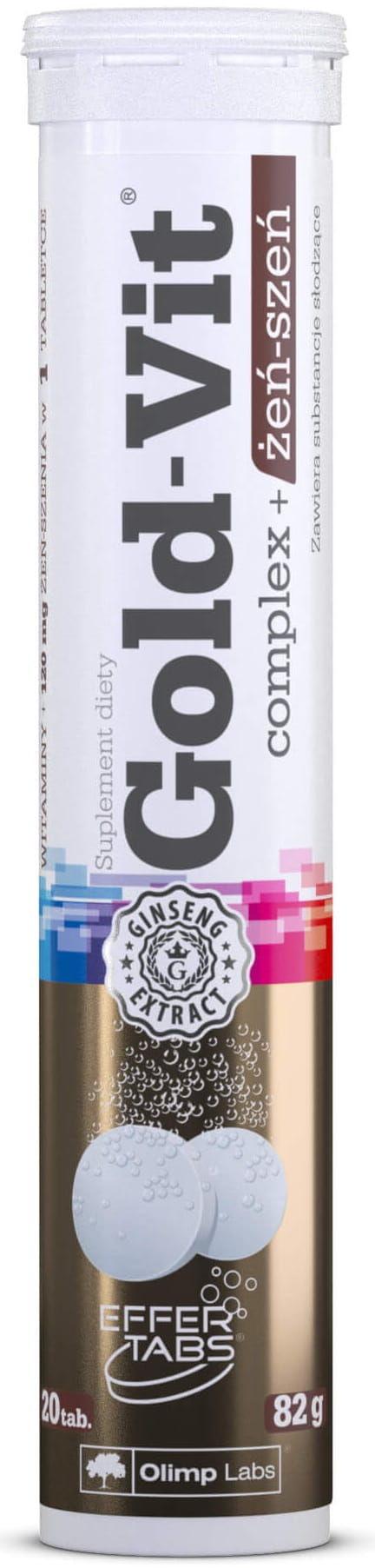 Gold-Vit  Complex+Żeń-szeń Smak Pomarańczowy Suplement Diety 20 Tabletek Musujących - Olimp Labs