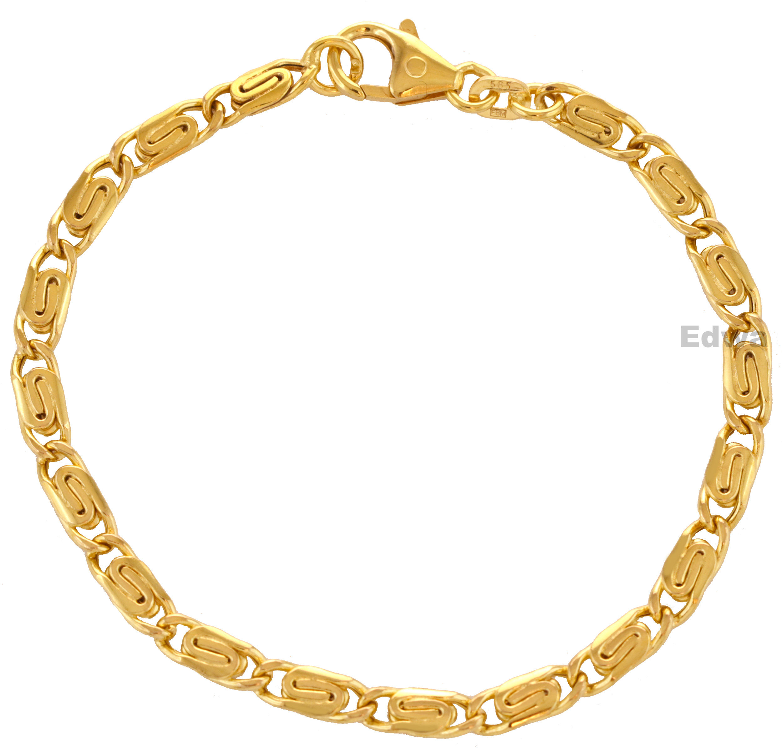 Bransoletka złota z greckim wzorem pr.585