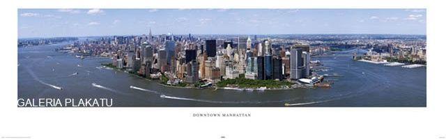 Nowy jork - manhattan z lotu ptaka - plakat