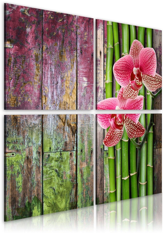 Obraz - bambus i orchidea
