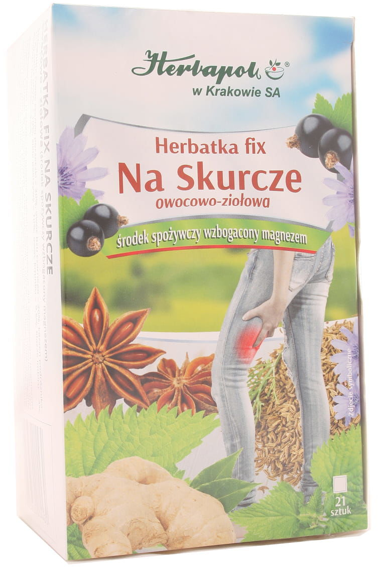 Herbatka fix na skurcze - Herbapol - 21 saszetek